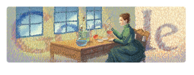 http://www.google.com/doodles/marie-curies-144th-birthday